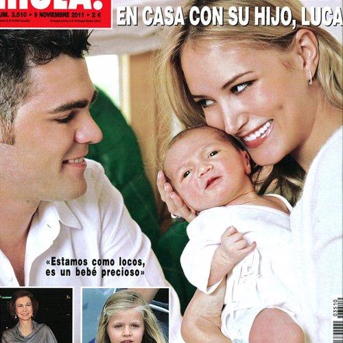 Fonsi Nieto y Alba Carrillo presentan a su hijo Lucas