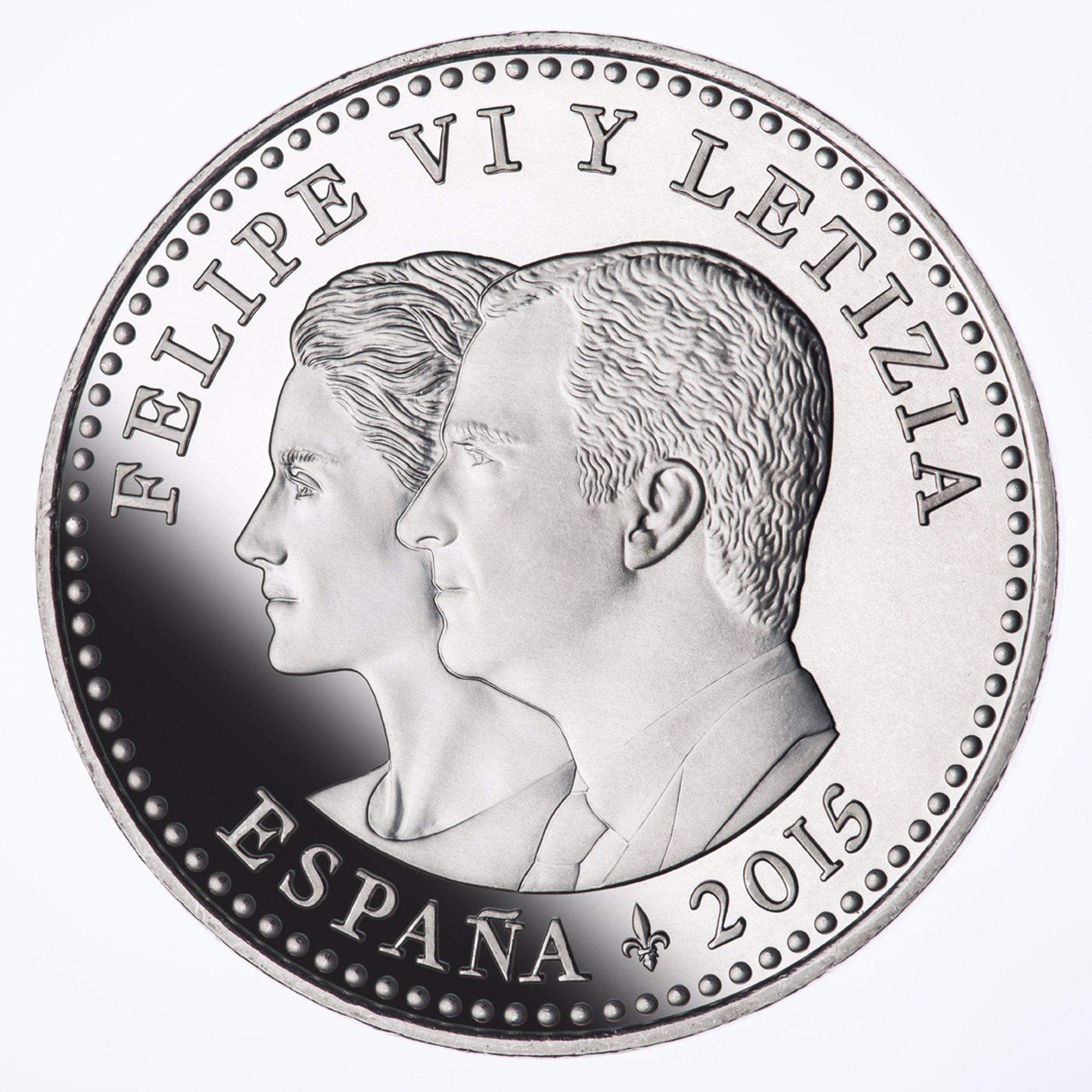 moneda de los reyes felipe y doña letizia