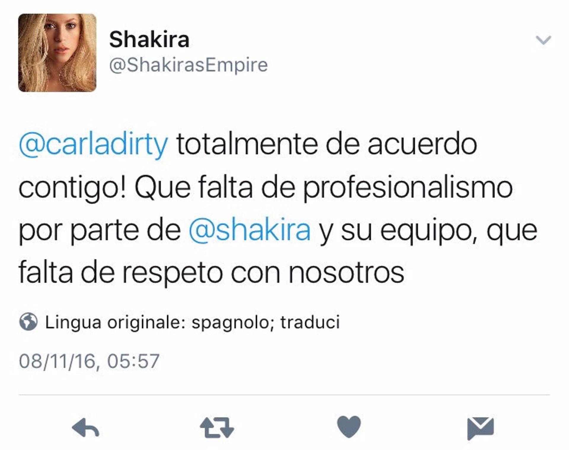 Los fans de shakira indignados le acusan de abandonar su - Shakyra diva futura ...