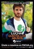 Gorka Otxoa, Emma Ozores y Tristan Ulloa, en una campaña contra tarifas abusivas del móvil