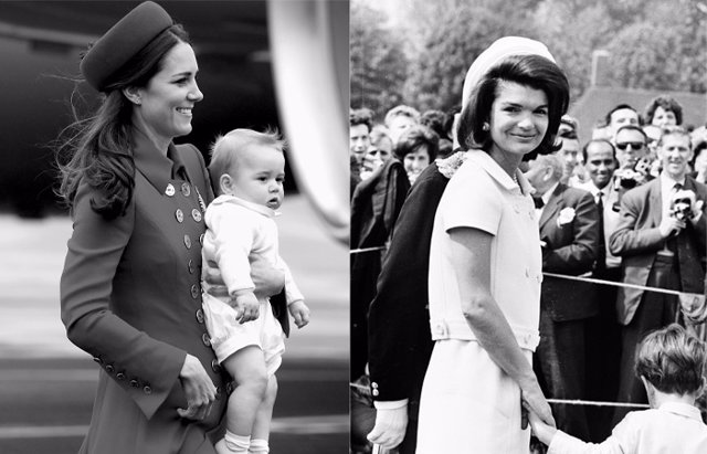 Foto: Kate Middleton, evoca a una Jackie Kennedy gracias a su sombrero 'pill-box' (GETTY)