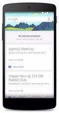 Google Now ya no necesita Internet para mostrar la agenda de los usuarios