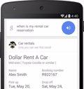 Google Búsqueda recuerda las reservas de coches de alquiler de los usuarios