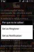 La abdicación del rey llega a las aplicaciones Android