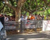 Manifestación de la Confavc contra los recortes sanitarios ante el Parlament
