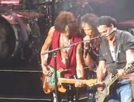 Aerosmith con Johnny Depp
