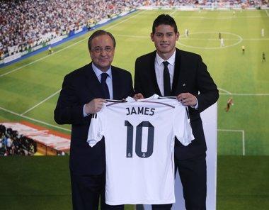 "Foto: Florentino Pérez: ""Me produce satisfacción el fichaje de James"" (JUAN MEDINA / REUTERS)"