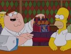 Homer Simpson vs Peter Griffin en un 'crossover'
