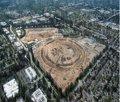 Una foto aérea muestra cómo van las obras de la 'nave espacial' de Apple