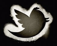Logotipo de Twitter en color negro