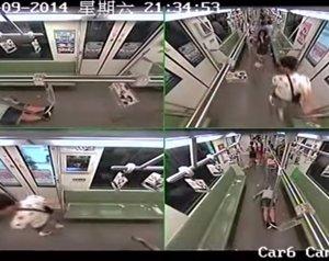 Estampida en el metro de Shanghai por un desmayo
