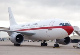 Foto: La avería en el avión de Margallo se localizó en un sistema de control de la potencia de uno de los motores (EJÉRCITO DEL AIRE)