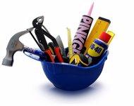 Casco con herramientas