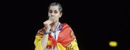 Foto: Carolina Marín, campeona del mundo de bádminton (SCANPIX DENMARK / REUTERS)