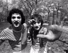 Robin Williams haciendo de mimo en Central Park, 1974