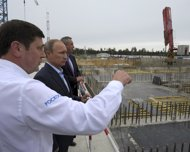 Putin visita las obras del nuevo puerto espacial ruso de Vostochny