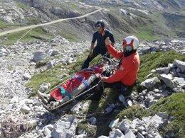 Foto: Rescatan en Picos de Europa a un escalador herido en una caída (GOBIERNO DE CANTABRIA)