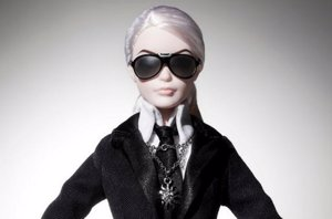 Foto: Nace la exclusiva y extravagante Barbie Lagerfeld (TWITTER MATTEL )