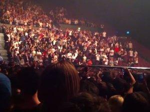 Kanye West durante su concierto en Sydney