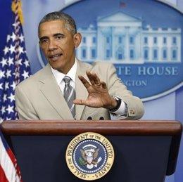 """Foto: Obama dice que el brote de ébola es una """"amenaza global"""" y anuncia el envío de 3.000 soldados a Liberia (REUTERS)"""