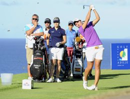 Foto: Carlota Ciganda, al acecho del liderato en el Tenerife Open (FELIPE PÉREZ)