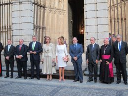 Foto: La Reina llega a la Catedral para presenciar el Réquiem de Mozart (EUROPA PRESS)