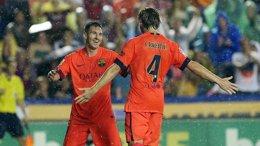 Foto: Messi dirige el paseo del Barça en el Ciutat (FC BARCELONA)