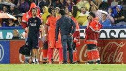 Foto: Neymar y Rakitic, dudas para Málaga (MIGUEL RUIZ / FCB)