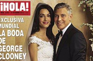 Foto: George Clooney y Amal Alamuddin, la primera imagen de su romántica boda (¡HOLA!)