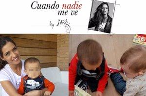 Foto: Sara Carbonero solidaria, con su pequeño Martín y el 'héroe' Mateo (CUANDO NADIE ME VE)
