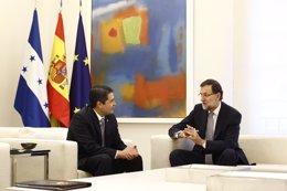 Foto: Rajoy y el presidente de Honduras repasan la situación en América Latina y la próxima Cumbre Iberoamericana (EUROPA PRESS)
