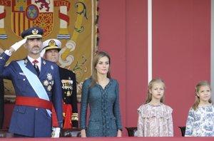 Foto: Felipe VI, su primer desfile del Día de la Hispanidad como Rey (RICARDO GARCIA)