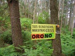 Foto: 50.000 firmas contra una mina de oro en la costa asturiana (COORDINADORA ECOLOXISTA DE ASTURIES)