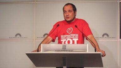 Foto: David Fernández (CUP) presidirà la comissió sobre el cas Pujol (EUROPA PRESS)