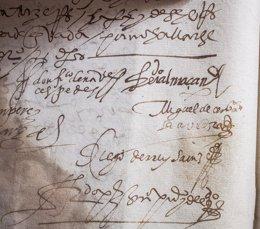 Foto: Estepa expondrá por primera vez la firma de Cervantes (EUROPA PRESS/AYUNTAMIENTOESTEPA)