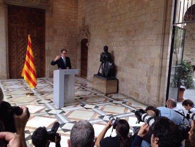 Foto: Mas està disposat a reunir-se amb Junqueras i treballarà per recompondre la unitat (GENERALITAT)