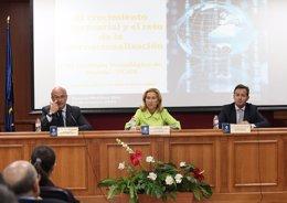 Foto: El exsecretario de Estado de Hacienda aborda en la UCAM el papel de las exportaciones en la recuperación económica (UCAM)