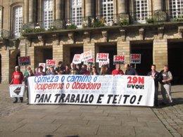 Foto: As Marchas da Dignidade ocuparán o Obradoiro o 29 de novembro (EUROPA PRESS)