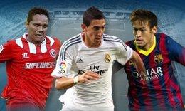 Foto: Neymar, Di María y Bacca, nominados a mejor jugador americano (LFP)