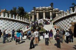 Foto: Los visitantes del parque Güell se reducen a una cuarta parte (JCG)