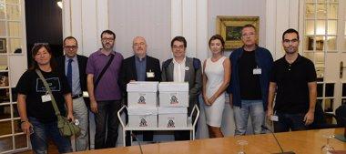 Foto: La Junta Electoral valida les al voltant de 90.000 firmes per a demanar una ràdio i tv públiques en valencià (COMISSIÓ PROMOTORA ILP RTV)