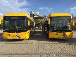 Foto: Guaguas estrena 8 vehículos en los que se podrá cargar el móvil (EUROPA PRESS)