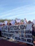 """Foto: Los vecinos de Villamar cortan la AS-232 para reclamar que el Ayuntamiento """"recapacite"""" y reimplante la Línea 6 (PSOE OVIEDO)"""