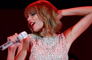 Foto: Taylor Swift imparable... dará la bienvenida al 2015 sobre el Times Square de Nueva York (GETTY)