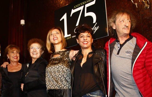Foto: 'La que se avecina', fuera de la pantalla, en el 175 aniversario de Lhardy (EUROPA PRESS)