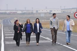 Foto: Ejea inaugura el acceso al polígono Valdeferrín (AYTO. EJEA)