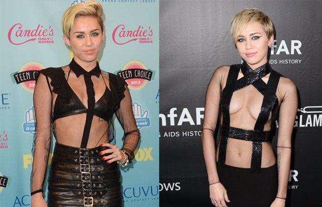 Foto: ¿Qué le han pasado a los senos de Miley Cyrus? (GETTY)