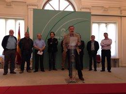 Foto: Nuevo sondeo en busca de restos óseos en la posible fosa de Lorca (EUROPA PRESS)