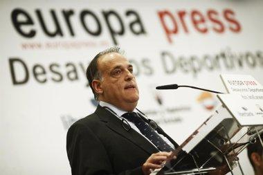 """Foto: Tebas, sobre los amaños: """"Sigue habiendo una 'omertá' que perjudica al bueno"""" (EUROPA PRESS)"""