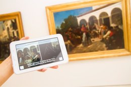 Foto: 'App' accesible en el Thyssen de Málaga (EUROPA PRESS/MUSEO THYSSEN)